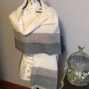 Beautiful Neutral Blanket Scarf